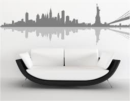 new york skyline wall sticker home design