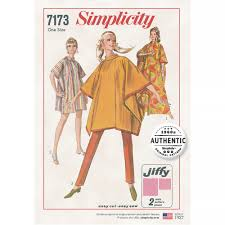 Simplicity Patterns Vintage Gorgeous Simplicity Pattern 48 Misses OneSize Jiffy Poncho Sewing