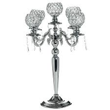 tall silver candle holders candelabra chandelier crystal votive candle holder wedding centerpiece tall silver