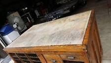 antique hamilton manufacturing printers cabinet with granite top