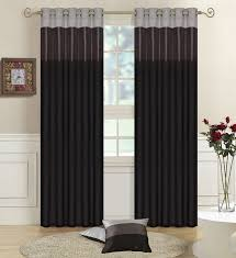 Silver Bedroom Curtains Details About Black Greysilver Faux Silk Three Tone Fully Lined