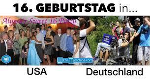 16 Geburtstag In Usa Und Deutschland Sweet Sixteen Hahaha