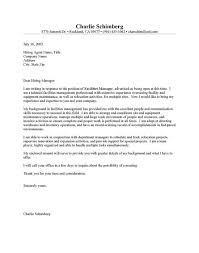 Police Officer Cover Letter No Experience Unique Facilities Manager