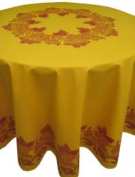 round tablecloth 180 cm diameter 100 cotton new provencal yellow ocher terracot