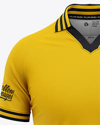 Free for personal and commercial use zip file includes: Men S Soccer Jersey Mockup Front View Of Soccer Polo T Shirt In Apparel Mockups On Yellow Images Object Mockups