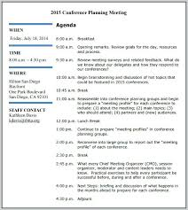 Annual Planning Meeting Agenda Template Sample Ics Business ...