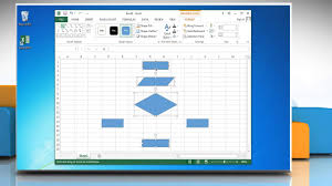 Flow Chart Youtube How To Make A Flow Chart In Excel 2013