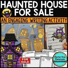 best descriptive writing activities ideas haunted house for halloween writing activity writing lesson this 40 page resource