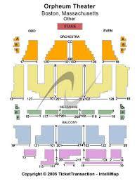 Orpheum Boston Seating Chart New Beauty News Orpheum Theater Boston
