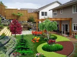 Beautiful landscaping small backyard sloping garden design