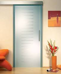 china custom satin etched glass door with groove tempered glass for shower room supplier