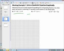 4 1 graphical solutions to quadratic equations