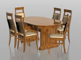 6 seater dining set 3d model 3dsmax files free modeling stunning six seater dining table