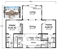 bungalow house plans with two master