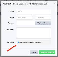 New Feature Job Alert Sign Up On Job Application Form