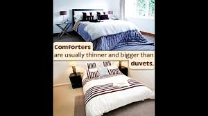 what s the difference between a snug duvet and a cozy comforter
