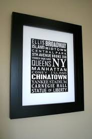 personalised print word collage custom word cloud subway sign art graduation gift anniversary gift for husband or wife on wall art street names with typography of new york street names fine art print 10x8 inches