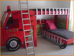 fire engine bunk bed with slide