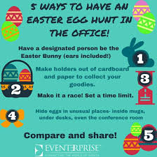 Office Easter Fun Ideas For An Easter Egg Hunt In The Workplace
