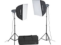 visico vl series 600ws studio light softbox kit pro 2x 300ws