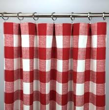 red buffalo check curtains image 0 cafe white