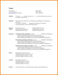 Basic Sample Resume Templates Word Custom | Resume Template