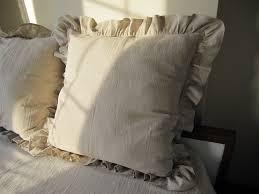 ruffled pillow shams. Exellent Ruffled 26 Inch Ivory  Oatmeal Beige Ruffle Euro Sham Shabby Chic On Ruffled Pillow Shams