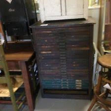 hamilton oak letterpress printers cabinet for metal type wood printers block