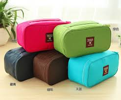 high quality multi function nice makeup bag portable uni waterproof travel cosmetic case underwear lightweight storage bags