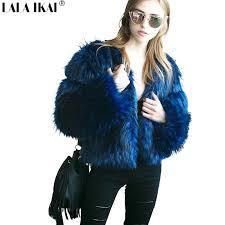 2019 winter fluffy long hair women faux fur coat black blue solid color plus size 2xl 3xl las outfits warm fur jacket swq0385 45 from aprili
