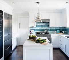 kitchen backsplash. View In Gallery Custom Glass Backsplash With Chevron Pattern Blue Kitchen
