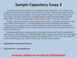 staar end of course ppt video online  sample expository essay 2