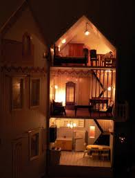 lighting for dollhouses. doll house with electric lights lighting for dollhouses