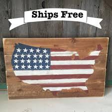 pallet wood flag american rustic flag