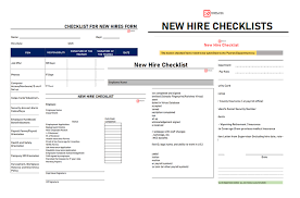 Free New Hire Checklist Template Formats Word Excel