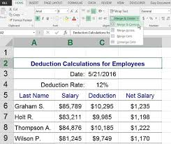 Merge Cells in Excel and Google Spreadsheets