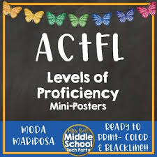Language Proficiency Levels Poster Worksheets Tpt