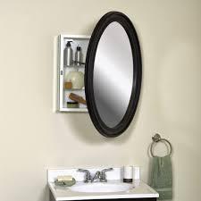 Oval Mirror Medicine Cabinet Furniture Splendid Oval Bathroom Mirrors Design With White
