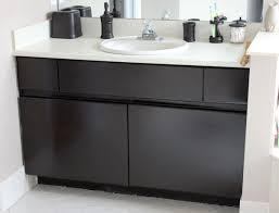diy inexpensive bathroom cabinet makeover
