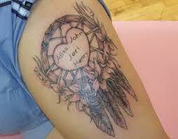 Cute Dream Catcher Tattoos tattoo designs three little ladies cutedreamcatchertattoos 18