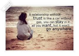 Quotes About Love And Trust Fascinating A Relationship Without Trust Love Quote QUOTEZ○CO