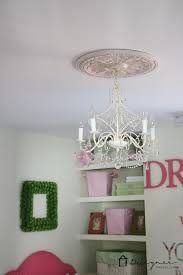 deal with that unsightly ring left by flush mount light fixtures by customizing your