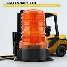 Small Rotating Beacon Light 10 110v 15w 30 Leds Flashing Rotating Bulb Strobe Forklift Warning Light