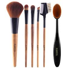 makeup brush set 6 piece essential no shed no hair super soft bristle including
