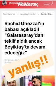 """Galatasaray Ruhu on Twitter: """"👀 İsmi Galatasaray ile anılan Rachid Ghezzal'in  Instagram bio'sunda iki gün önceye kadar Beşiktaş'ın oyuncusu yazıyordu ve  kartal emojisi bulunuyordu. Ghezzal bunları kaldırdı.…  https://t.co/Yjx1Iu7imY"""""""