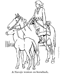 Horse Animal Coloring Pages Coloring Page Horse In The River