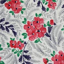 Vintage 50s Floral Cotton Quilt Fabric - {michellepatterns.com} &  Adamdwight.com