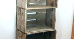 wooden crate shelves shelf wood crates plastic milk diy bathroom storage furnitur