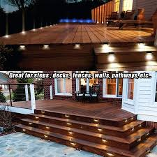 8 pcs solar deck lights solar step
