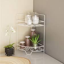 Kitchen Corner Shelves Furinno Balmain 2 Shelf Metal Kitchen Corner Shelf Fnbj 22139